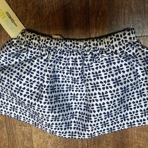 Girls Genuine Kids blue patterned skirt sz.18mo